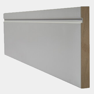 LPD White Primed Single Groove Skirting Board