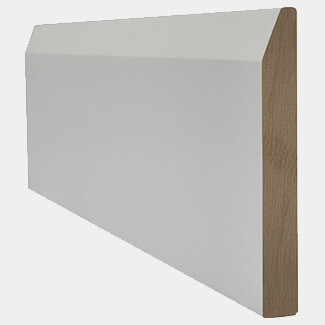 LPD White Primed Chamfered Door Skirting Board
