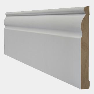 LPD White Primed Ogee Door Skirting Board