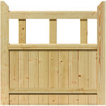 JB Kind External Softwood Unfinished Boarded Half Gate - More Sizes Available