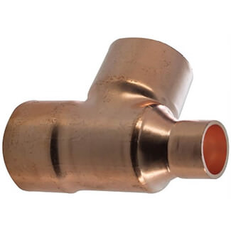Masterflow Copper End Feed Reduced End Tee