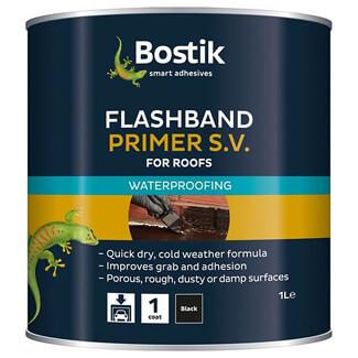 Bostik Black 1 Litre Flashband Primer SV For Roofs