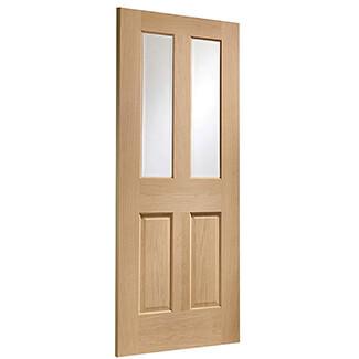 XL Joinery Malton Un-Finished Oak Internal Glazed Door