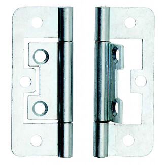Dale 63mm Bright Zinc Plated Flush Hinges  - Pack Of 2