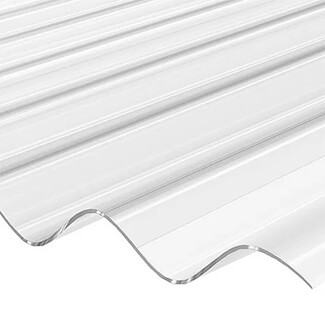 Vistalux Corrugated Heavy Duty 1.1mm Clear PVC Roofing Sheet