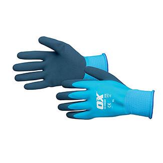Ox Tools Waterproof Latex Gloves