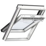Velux Manual Centre Pivot GGL White Painted Pine Roof Window