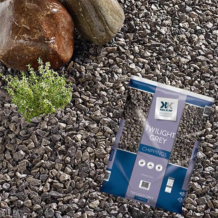 Kelkay Twilight Grey Chippings Decorative Stone Bag 20 Kg
