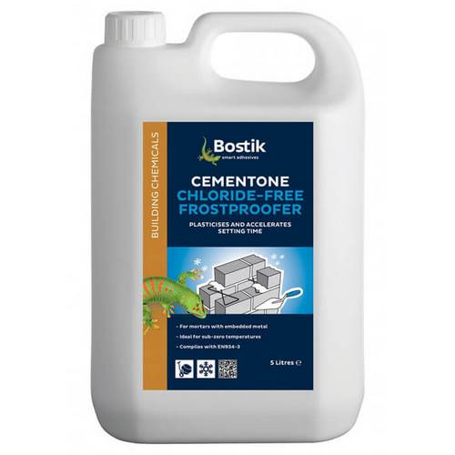 Bostik Cementone Wintaplas Chloride Free Frostproofer And Plasticiser - Various Pack Sizes Available