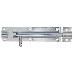 Dale Bright Zinc Plated Straight Tower Bolt