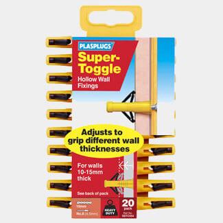 Tile Rite Plasplugs Super Toggle Heavy Duty Anchors Clip Pack
