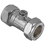 Masterflow Yellow Brass Isolating Valve Light Pattern CP - Various Sizes Available
