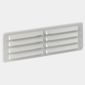 Manrose PVC Fixed Louvre Vent Grille - 229x76mm White - 229mm Wide x 76mm Height