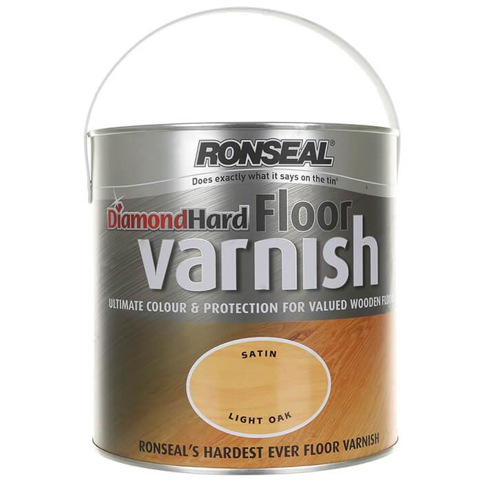 Ronseal Diamond Hard Floor Varnish 2.5L - Finishes Available