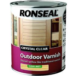 Ronseal Trade Crystal Outdoor Varnish Matt 750ML