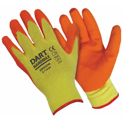 Dart Handmax Oregon Orange Latex Builders Glove Pack Of 12 Pairs