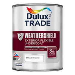 Dulux Trade Weathershield Exterior Flexible Undercoat - Brilliant White