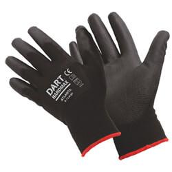 Dart Handmax Atlanta Black PU Glove Pack Of 12 Pair