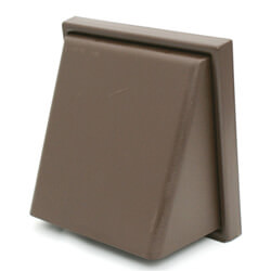 Manrose Wall Outlet Cowled With Damper Dual Fitting 100mm