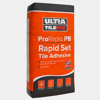 Ultra TileFix ProRapid PB Rapid Set Tile Adhesive Grey 20Kg