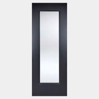 LPD Eindhoven Black Primed 1L Internal Glazed Door