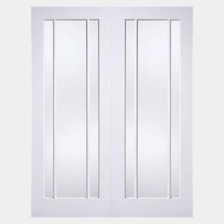 LPD Lincoln White Primed 6L Internal Glazed Door Pair