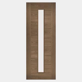 LPD Sofia Fully Finished Walnut 1P 1L Internal Glazed Door