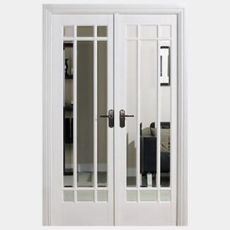 LPD Manhattan W4 White Primed Room Divider Glazed Door Set