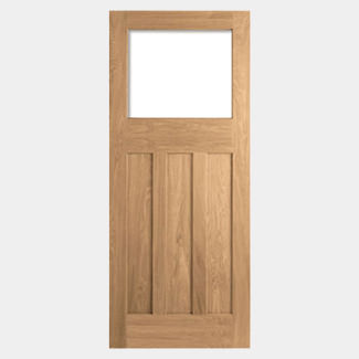 LPD DX 30 Un-Finished Oak 3P 1L Internal Unglazed Door
