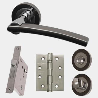 LPD Sirus Ironmongery Handle Privacy Hardware Pack 51 x 145mm
