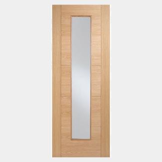 LPD Vancouver Pre-Finished Oak 5P 1L Internal Glazed Fire Door