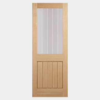 LPD Mexicano Un-Finished Oak 1L 5P Internal Glazed Door