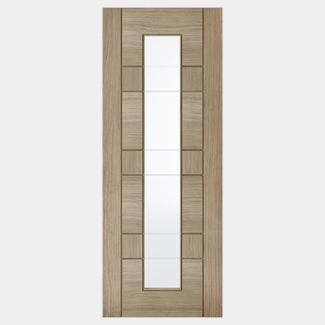 LPD Edmonton Pre-Finished Grey 7P 1L Internal Glazed Door