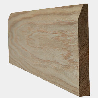 LPD Un-Finished Oak Chamfered Door Skirting Board