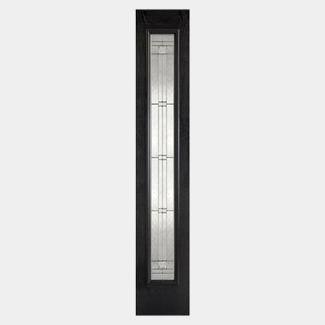 LPD Elegant Fully Finished Black 1L External Obscure Glazed Sidelight