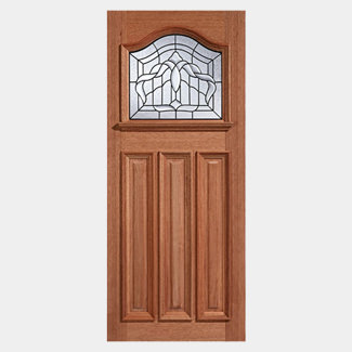 LPD Estate Un-Finished Hardwood 3P 1L External Leaded Obscure Glazed Door