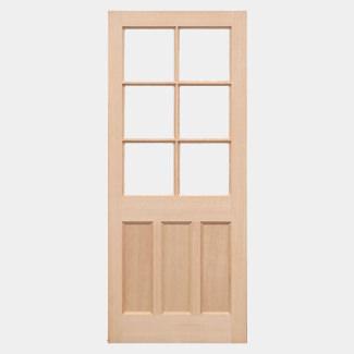 LPD KXT Unfinished Hemlock 3P 6L External Unglazed Door