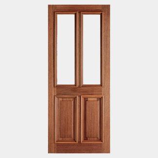 LPD Derby Un-Finished Hardwood 2P 2L External Unglazed Door