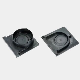 Clark Drain Channel Outlet And Plain End Cap Black Plastic