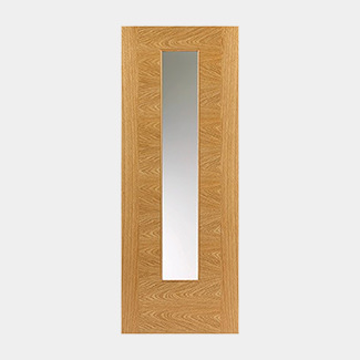 JB Kind Ostria Pre-Finished Oak 1P 1L Internal Glazed Door