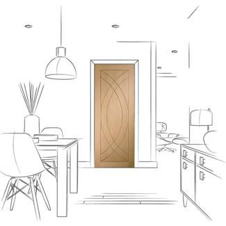 XL Joinery Treviso Un-Finished Oak 1P Internal Fire Door