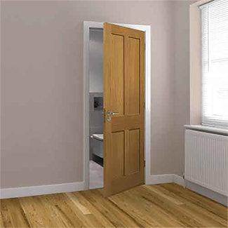 JB Kind Rushmore Un-Finished Oak 4P Internal Door