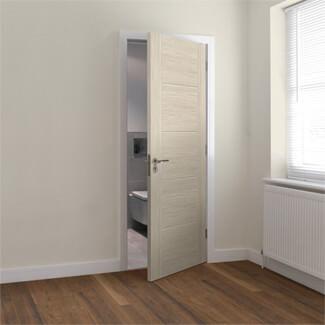 JB Kind Tigris Fully Finished Ivory 5P Laminate Internal Fire Door