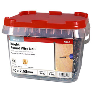 Timco Bright Round Wire Nails 40mm