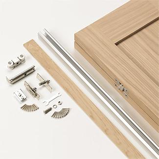 JB Kind Etna Un-Finished Oak 2P Internal Bi-fold Door