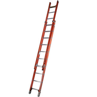 Werner ALFLO Utility Fibreglass Double Extension Ladder