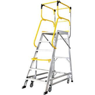 Werner Mobile Access Platform Aluminium Stepladders