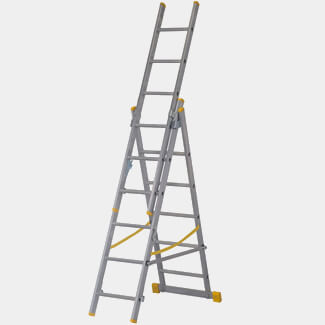 Werner Box Section Triple Extension Plus X4 Aluminium Stepladders