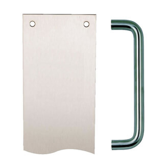 Dale Firebrand Pull Handle With Finger Plate
