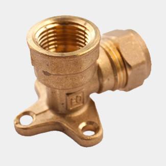 Oracstar 15mm Brass Wall Plate Elbow